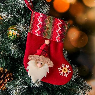 "Носок для подарка ""Рождество"" 13*17 см, дед мороз"