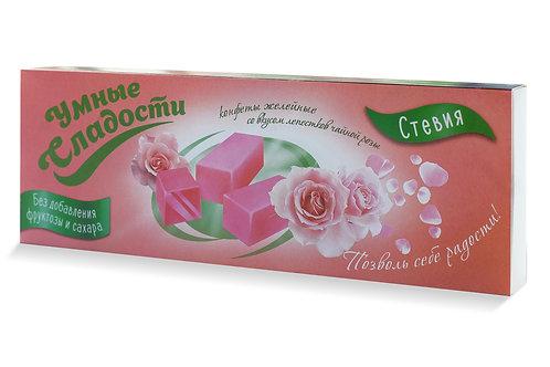 Умные сладости конфеты желейные Лепестки чайной розы 90 гр.