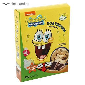 """Подушечки амарантовые с шоколадной начинкой """"Губка Боб"""", 220 гр."""