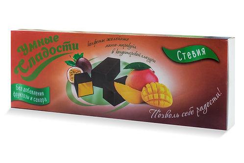 Умные сладости конфеты желейные Манго-маракуйя в кондитер. глазури 105 гр.