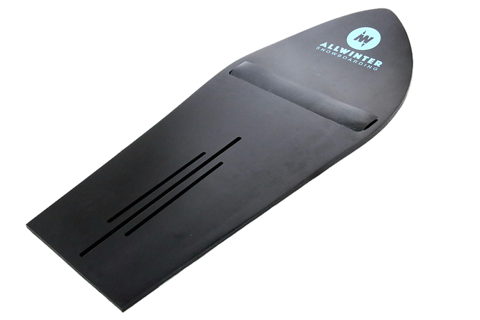 PowDaze snowboard attachment gives more float in powder snow.