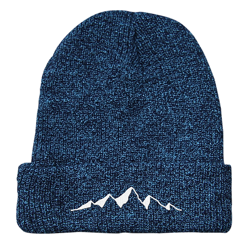 Mountains Beanie Blue