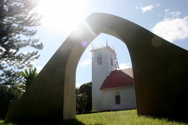 The restored arch