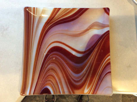 Red marble plate