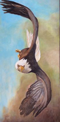 Et l'aigle s'avance sur sa proie!