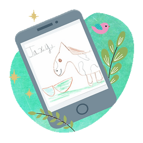 Kids drawing of Jaxy the horse