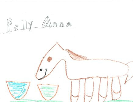kids drawing of Polly Anna the horse