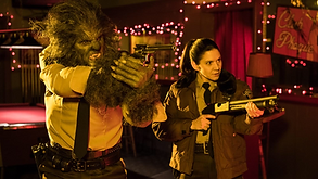Wolfcop & Tina, scene from Another Wolfcop