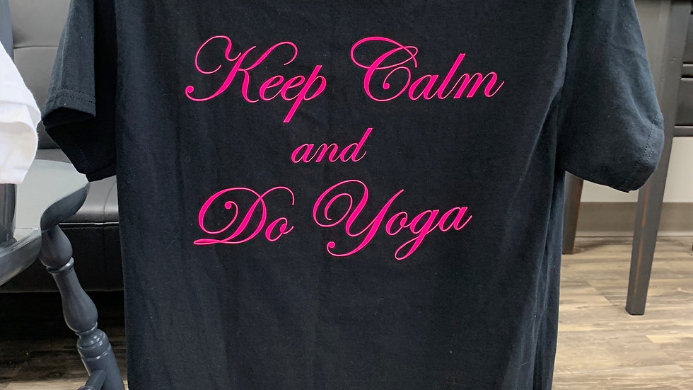 Black Keep Calm Do Yoga Classic T-Shirt