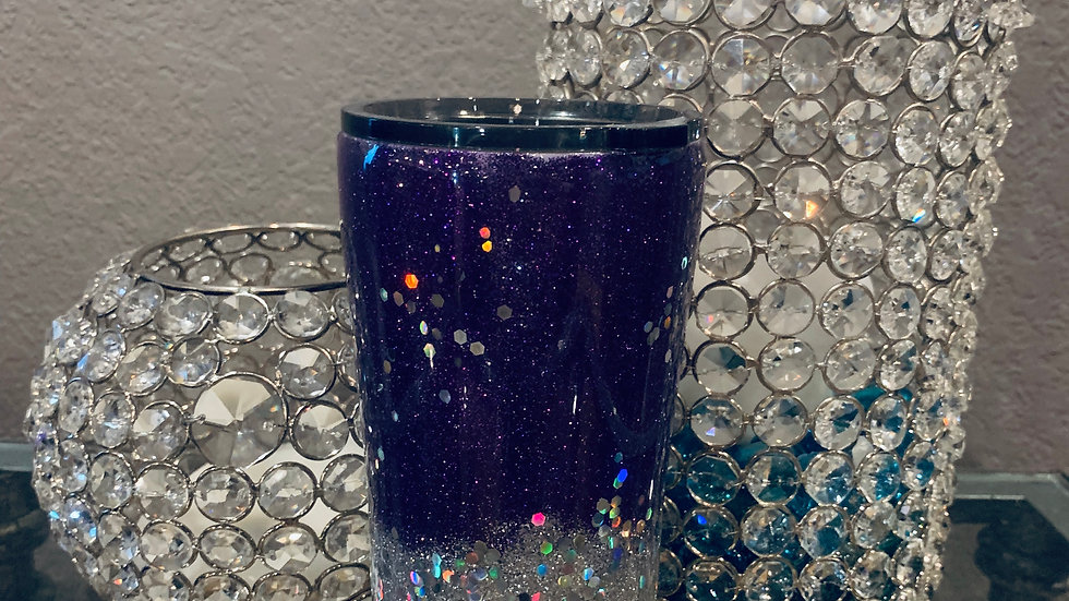 Purple and Silver Tumbler