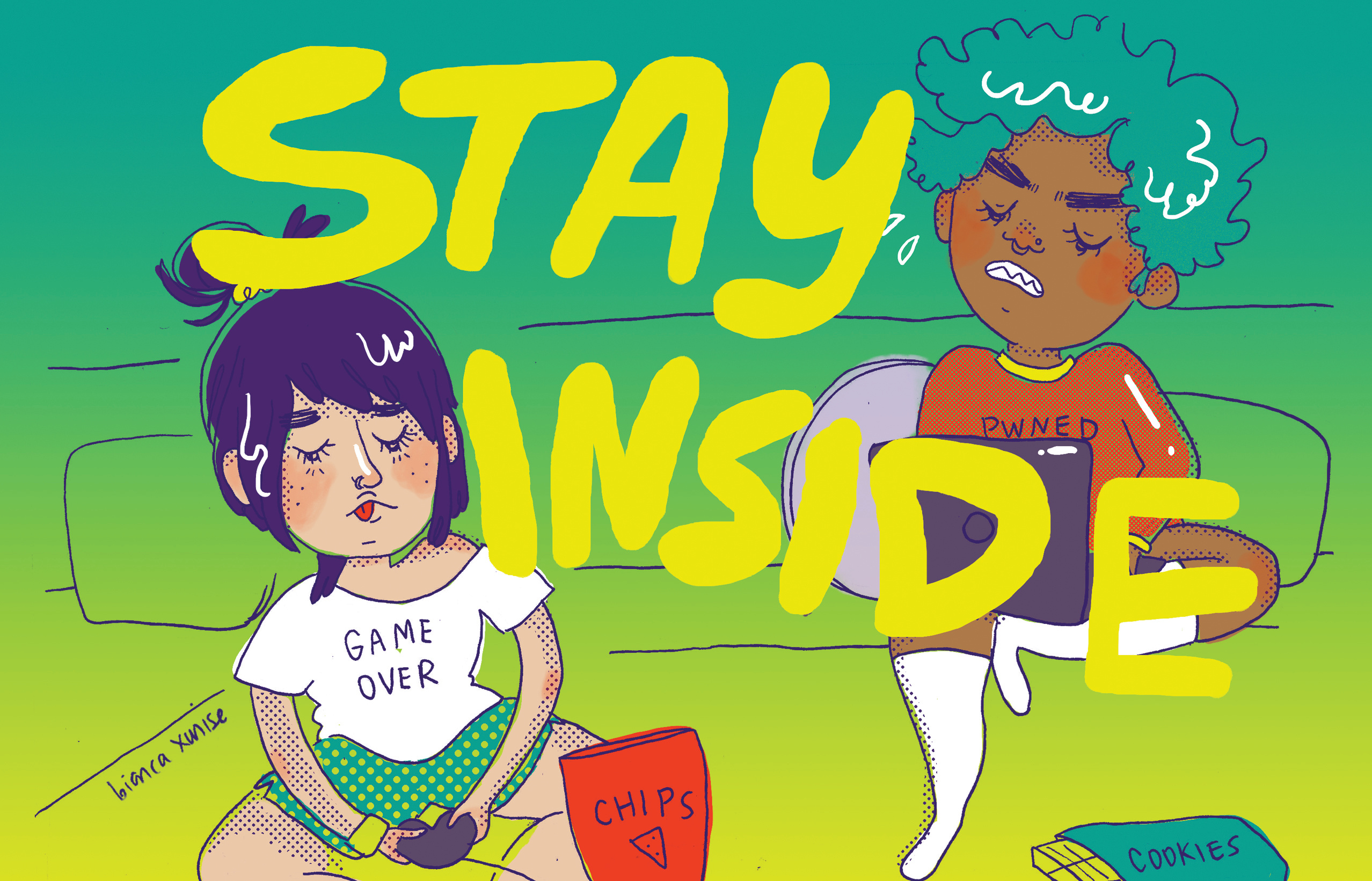Stay Inside Illustration