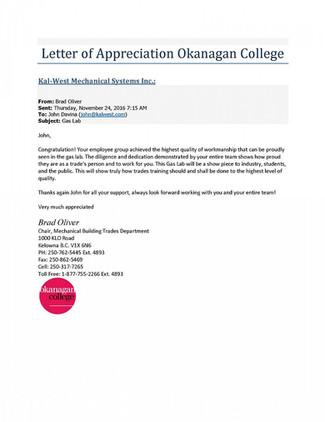 Okanagan College - Gas Lab