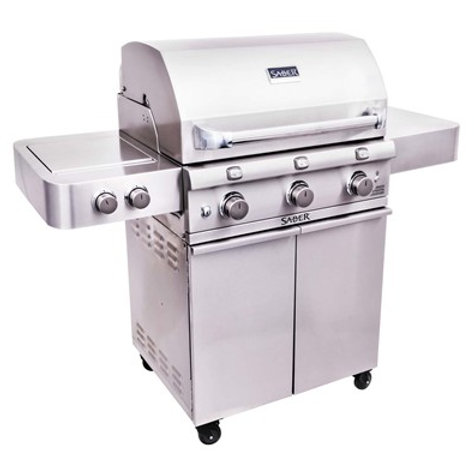 Saber Stainless Steel 3-Burner Gas Grill