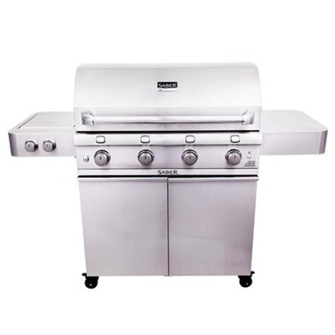 Saber Stainless Steel 4-Burner Gas Grill