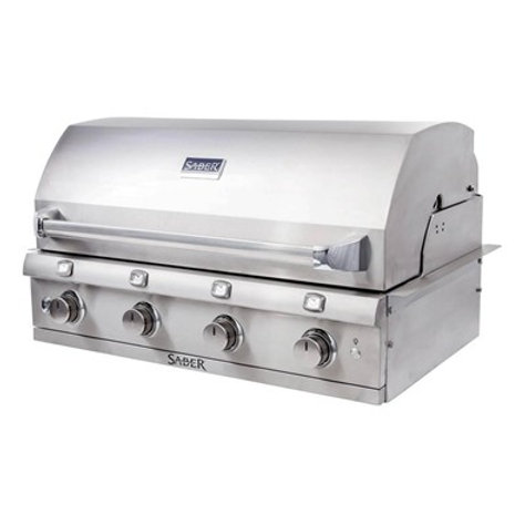 Saber Stainless Steel 4-Burner Built-In Gas Grill