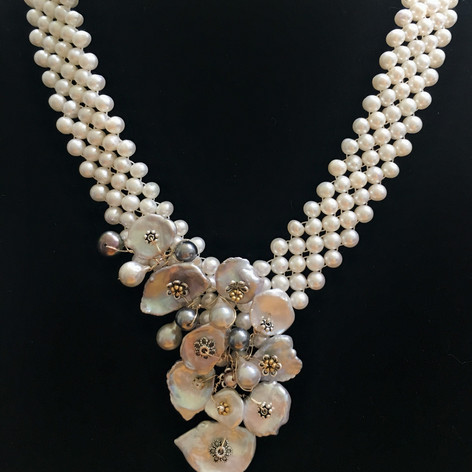 Necklace of Fresh and Saltwater Pearls