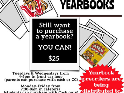 Yearbooks Still For Sale!