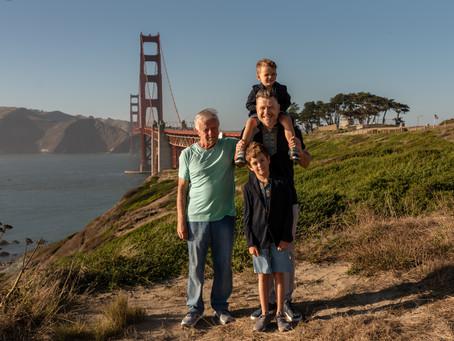 Family photoshoot at Baker beach, San Francisco