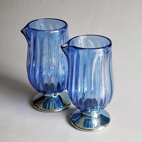 Ribbed & Metallic Cocktail Mixing Glass
