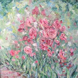 Morning Blooms 24x24
