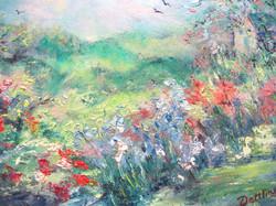 Enchanted Garden oval 16x20