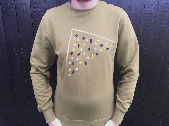 #random  jumper, khaki & gold