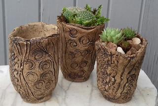 Minature standing stone planters