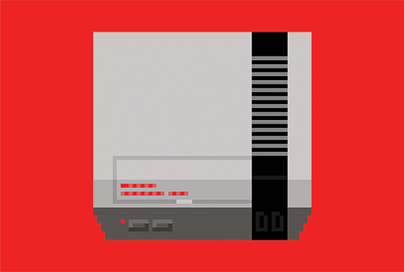 Nintendo Entertainment System (NES) / A4 Print