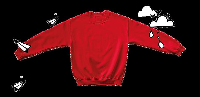 reused red school jumper