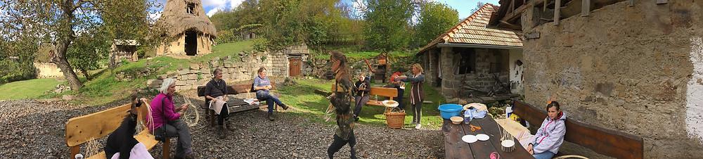 Basket making workshop at the Lisov museum