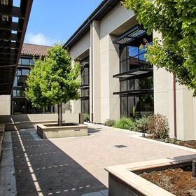 Gilroy City Library Plaza