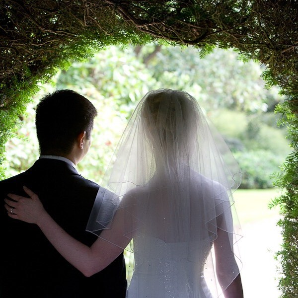 Bride and groom from different angle