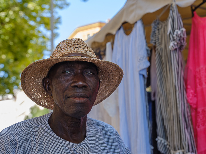 Portrait of a Stall Holder in Ajaccio Corsica