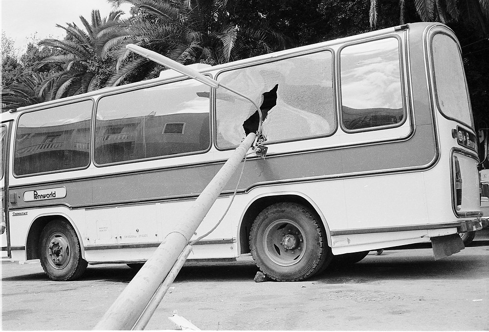 Damaged Bus Morocco 1978