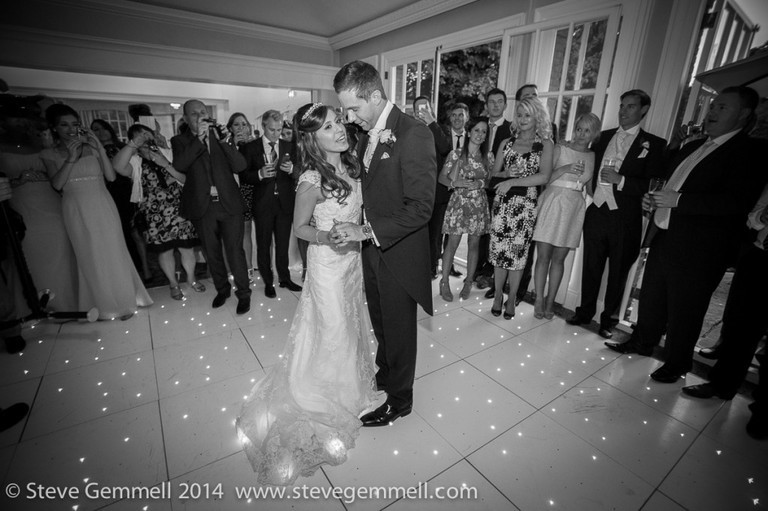 first dance Surrey Wedding Photography by Steve Gemmell