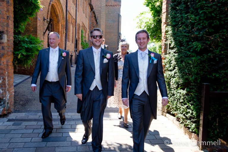 Groom & Family by Hatfield House Wedding Photographer Steve Gemmell