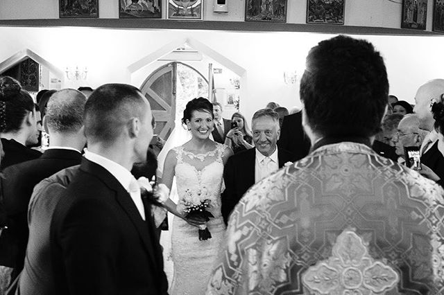 Arrival of bride in catholic church