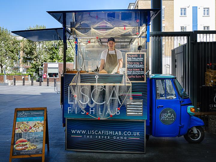 Mobile Fish Stall Spitalfields London