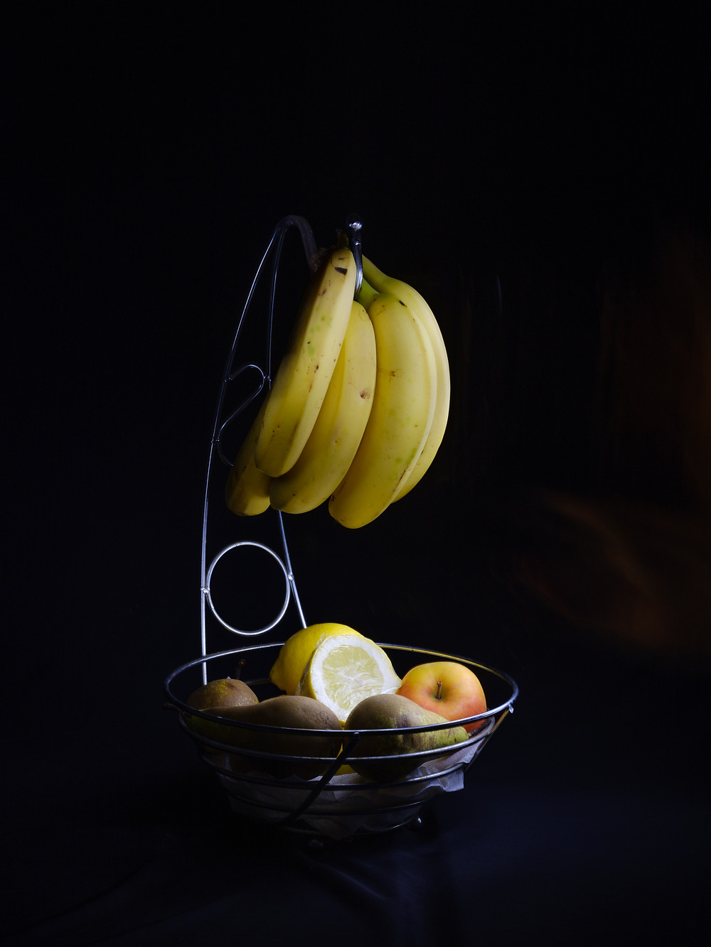 Light painting fruit