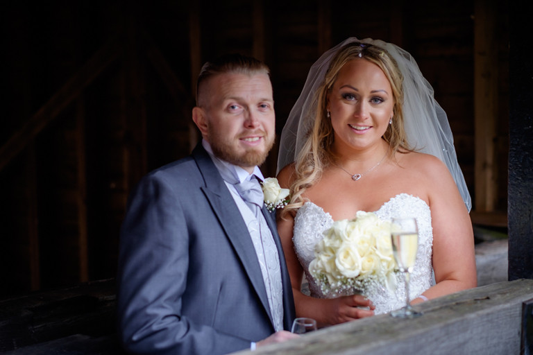 Couple at Tewinbury Farm Wedding