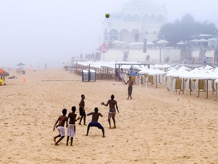Boys playing on Estoril Beach, Portugal