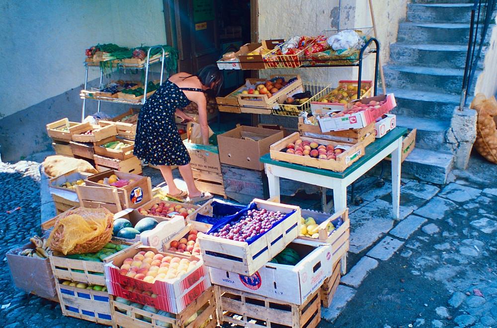 fruit stall Ajaccio
