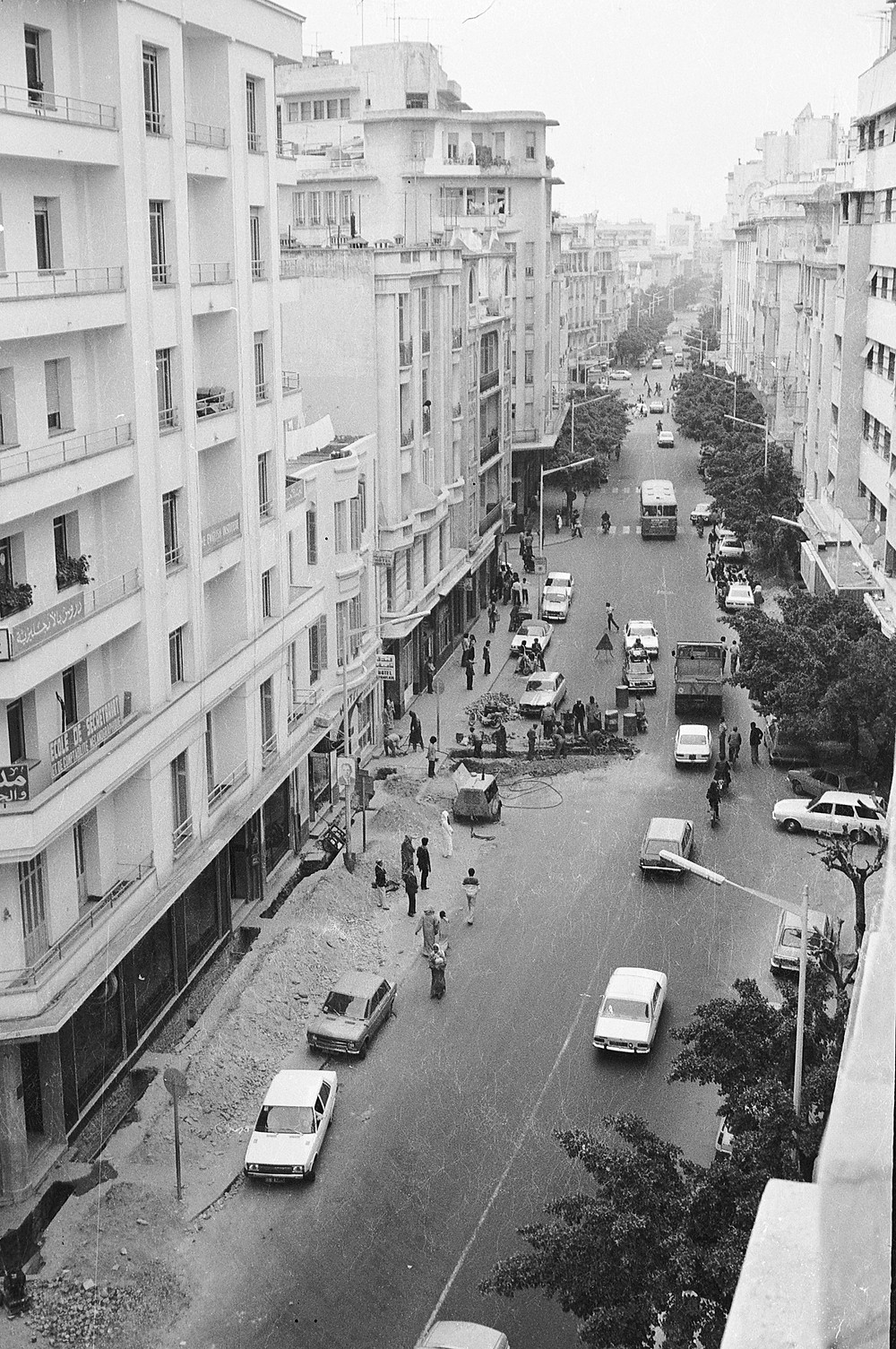 view from hotel window Tangier Morocco 1978