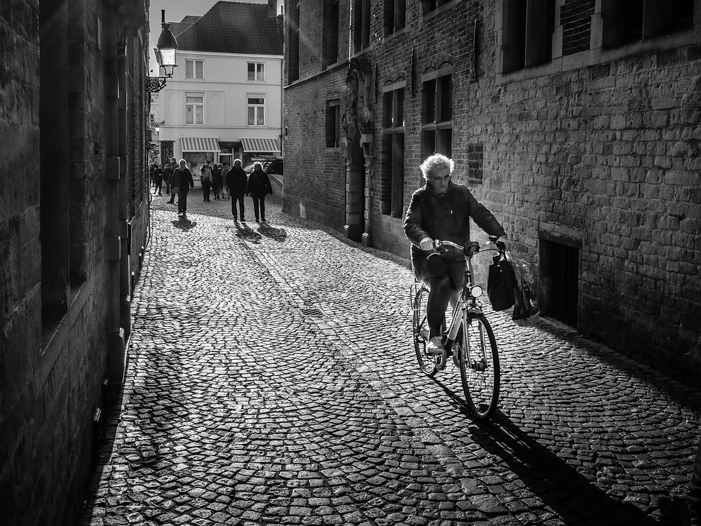 Cyclist in Bruges