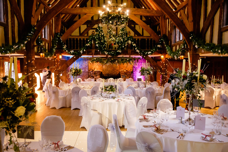 Christmas wedding inside great fosters