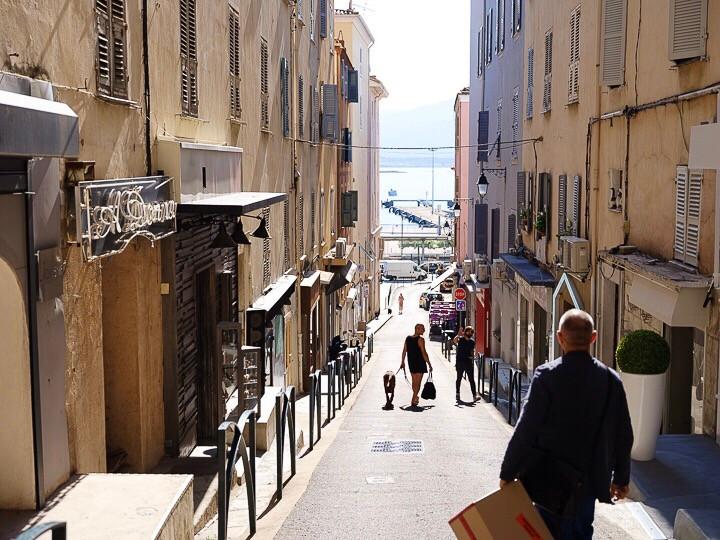 Side street in Ajaccio Corsica