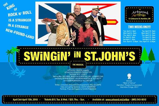 SWiNGiN' iN ST. JOHN'S POSTER 11 x 17 Bl