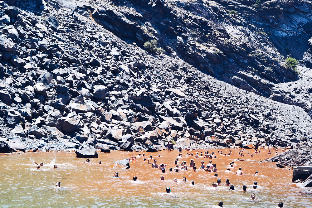 Hotsprings in Palea Kameni Island of Santorini Caldera | Best Things to do in Santorini Greece