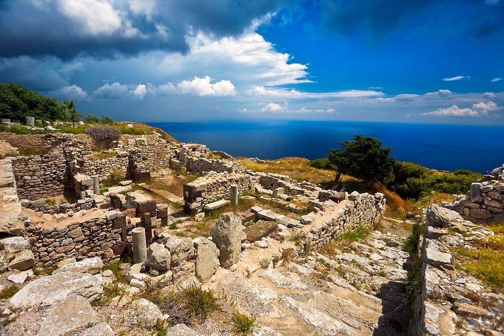Ancient Thera Santorini Greece