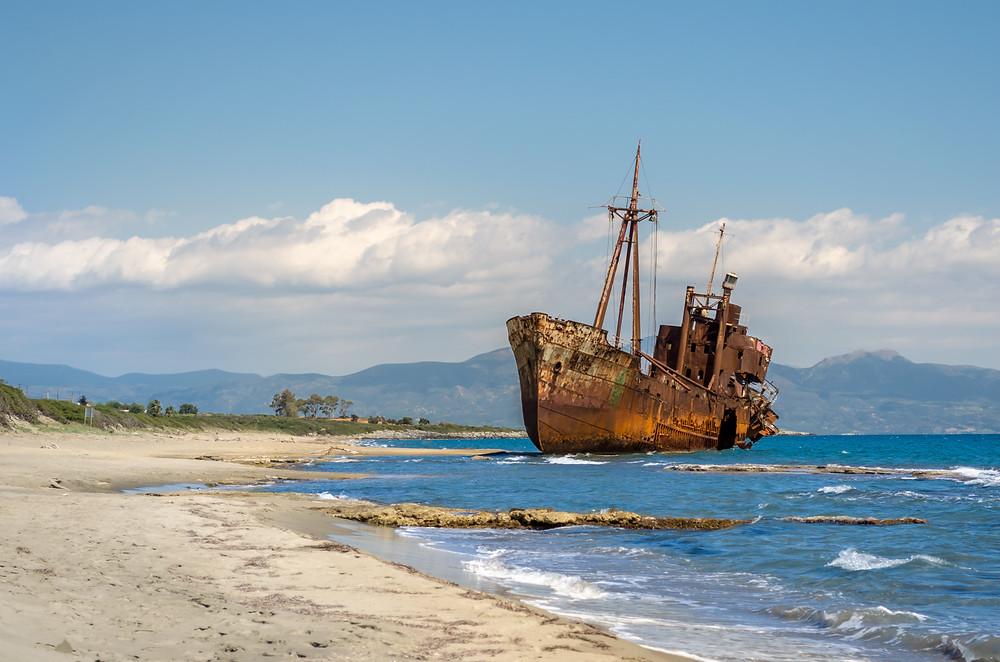 "Gythio Shipwreck ""Dimitrios"" | Mani Lakonia | Best Things to Do in Greece"